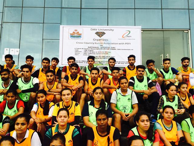 DAV University Jalandhar celebrated National Sports Day on the eve of Birth anniversary of Major Dhyan Chand
