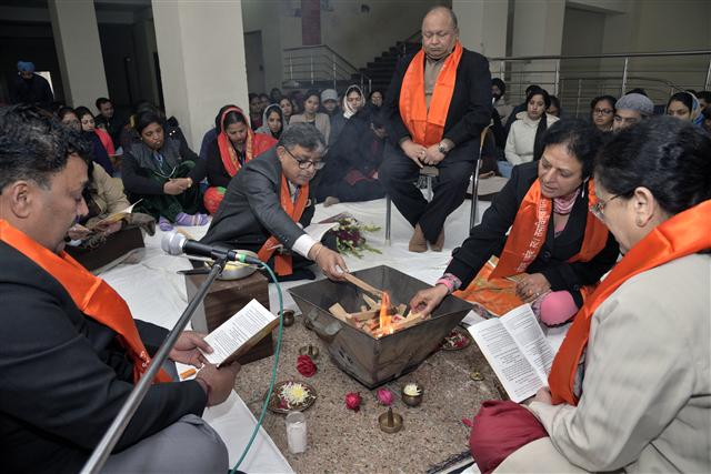 Vedic Yajna marks the beginning of the new semester
