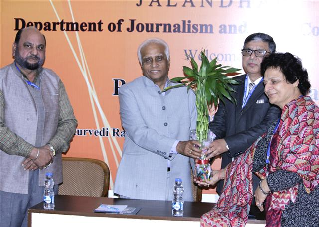 Department of Journalism and Mass Communication holds interaction with Dr B. K. Kuthiala