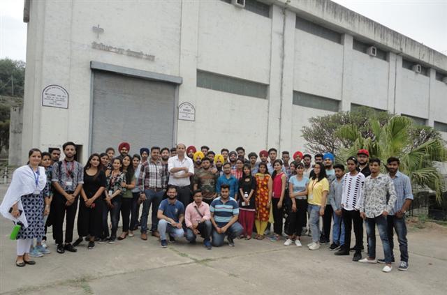 Dav University Students Participated in three days Training at NPTI Nangal.