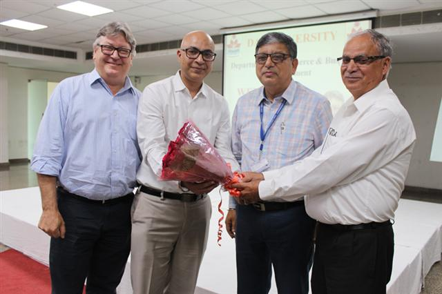 A guest lecture on International Collaboration and Employment Opportunity was organised by the CBM department of DAV University