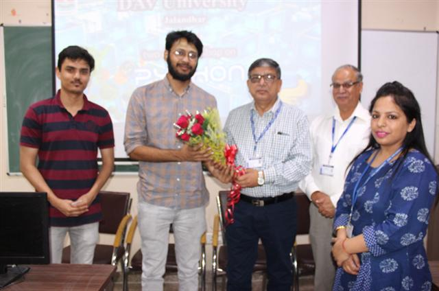 The Department of Computer Science and Engineering organized a two day workshop on Python