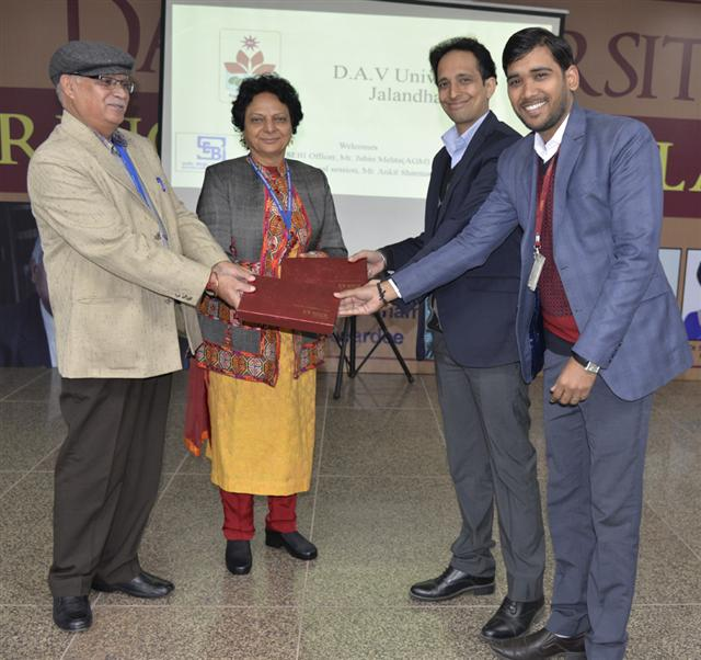 Guest Lecture in collaboration with NSDL and SEBI held at DAV University