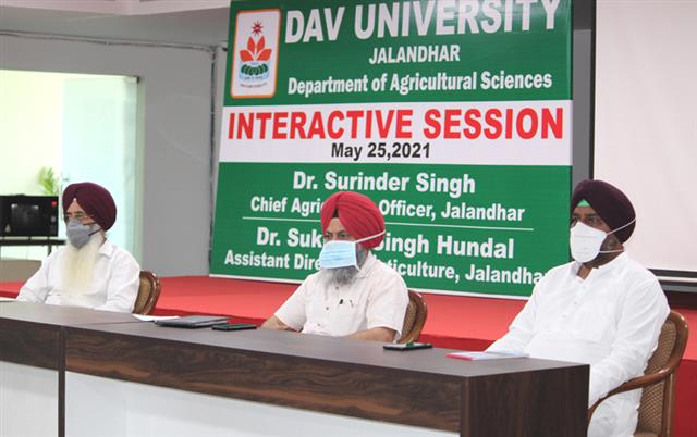 DAV University organized an interactive session on Agriculture and Horticulture