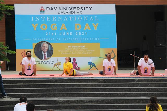 DAV University Jalandhar commemorates International Yoga Day