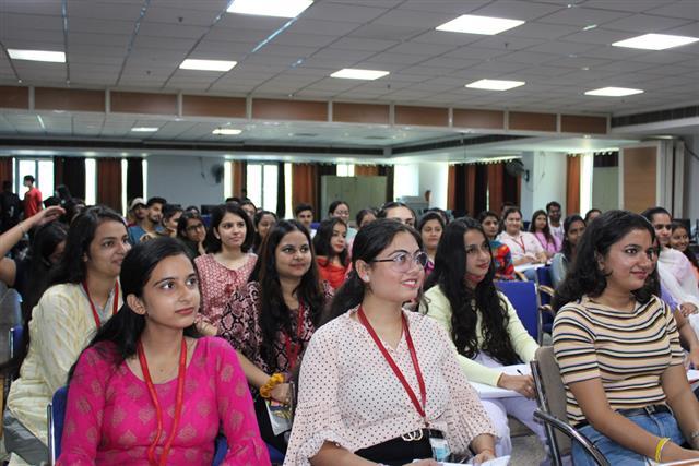 DAV University organized personality development programme