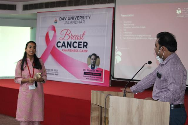 DAV University organzied breast cancer awareness camp