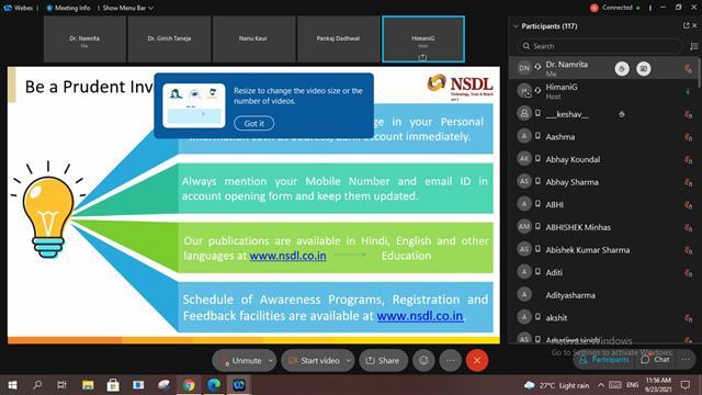 Live Webinar on Securities Markets